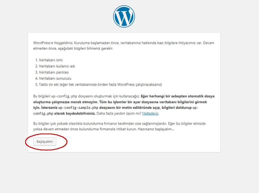 wordpress siteye veri tabanı atama resimli ve detaylı anlatım
